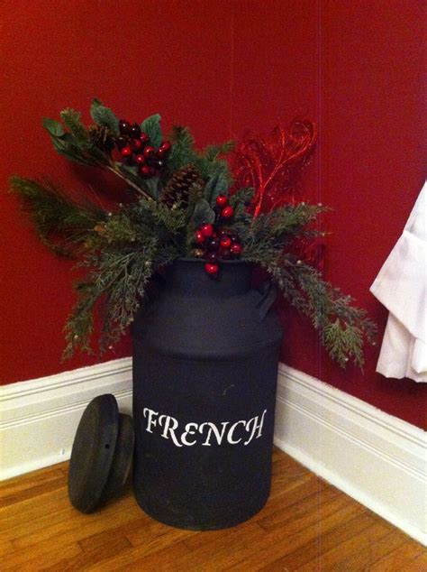 christmas milk can ideas pinterest milk can decorated for decorating decor