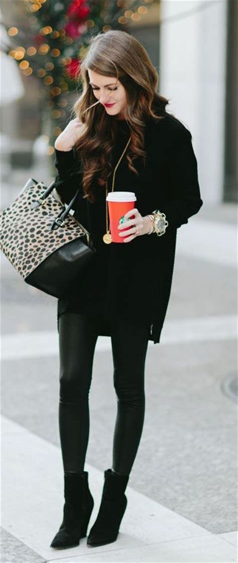 25 all black fall outfits that are anything but basic 100 fall outfit ideas to copy now page 3 of 4