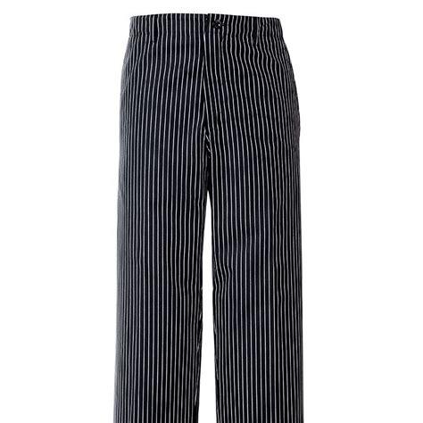 pantalon de cuisine rayures noir blanc 1 poche arri 232 re