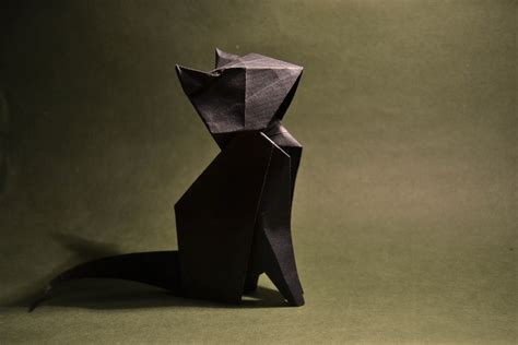 How To Make A 3d Origami Cat - origami cat seiji nishikawa i the of this