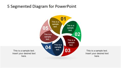 3 step spherical segmented diagram for powerpoint slidemodel 5 segmented diagram for powerpoint slidemodel