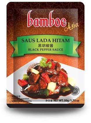 Iga Saus Plum Vegetarian bamboe asia saus lada hitam 50g from buy asian food 4u
