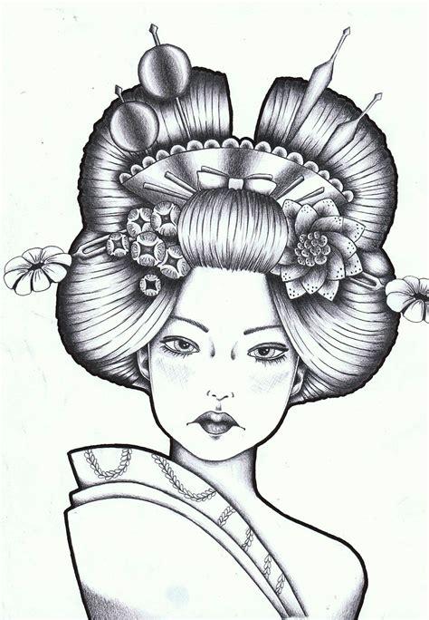 imagenes de tatuajes de geishas mujeres tatuadas plantillas o dise 209 os tatuajes