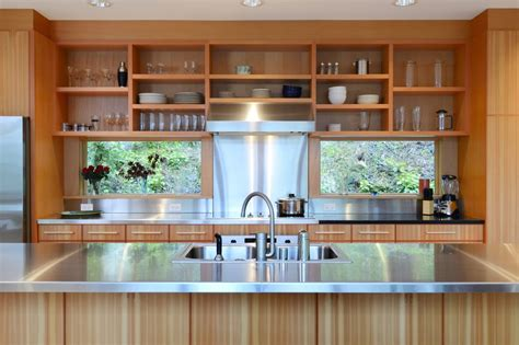 10 sparkling kitchens with open shelving kitchen designs that use wood