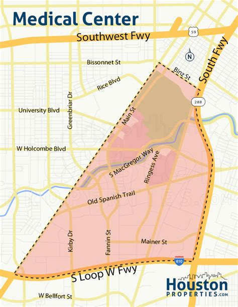 map of texas hospitals texas center houston homes neighborhood guide