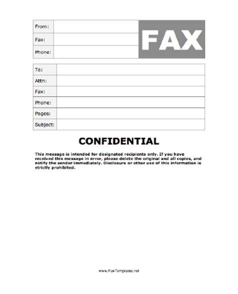 cover letter confidential confidential fax template