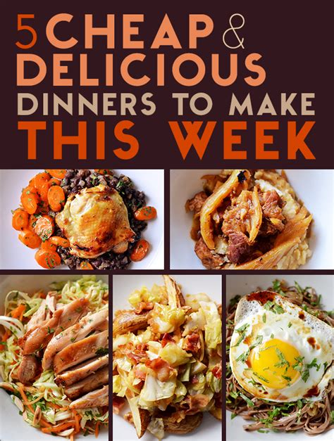 10 dinners for 5 cheap dinner recipes and ideas 5 cheap and delicious dinners to make this week