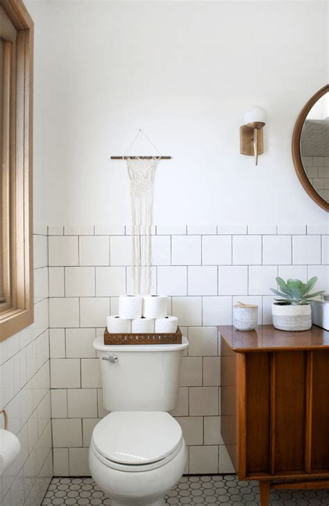 Modern Vintage Bathroom Reveal Brepurposed Modern Retro Bathroom