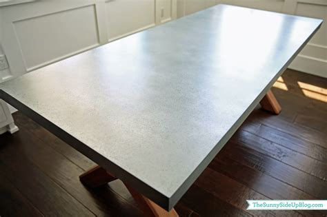 Zinc Top Bar Table Dining Nook Table The Side Up