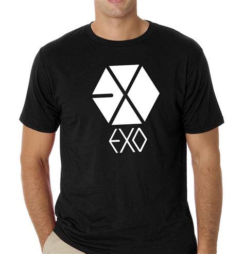 Tshirt Kaos Exo exo kpop black t shirt shirt 100 cotton ebay