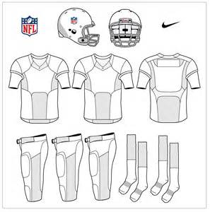 Football Jersey Design Template by Nike Uniforms Nike Nfl Template