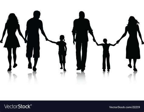 Ancestry Stock Images Royalty Free Images Vectors Family Silhouette Royalty Free Vector Image Vectorstock