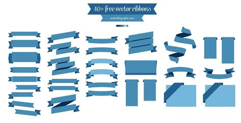 free ribbon vector banner set in ai eps cdr format 40 vector ribbons ai eps resourcevault