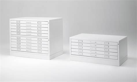 Plan file cabinets for blueprint, large format documents