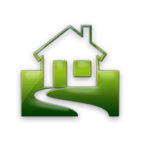 home address green home icons for website