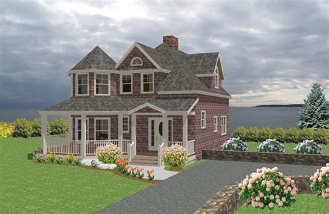 a cottage house seaside cottage traditional house plan new