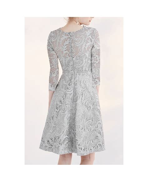 Sleeve Lace A Line Dress modest wedding dresses lace a line 3 4 sleeve