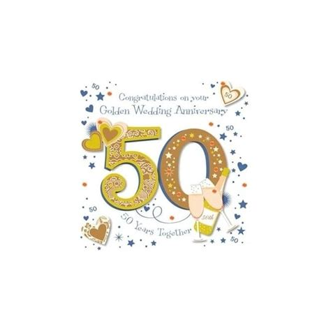talking pictures congratulations on your golden wedding anniversary card
