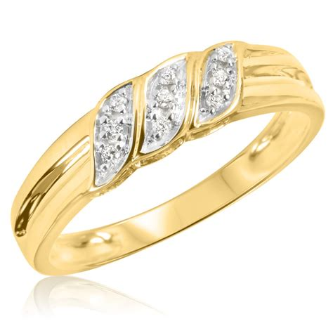 1 10 carat t w s wedding ring 10k yellow gold