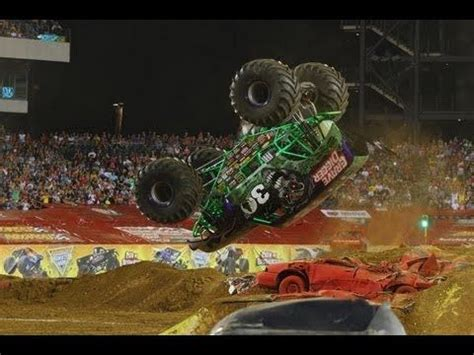 monster truck jam youtube grave digger freestyle backflip monster jam