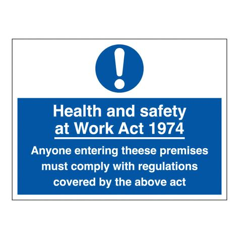 health and safety at work act 1974 section 8 health and safety at work act 1974 safety sign ebay