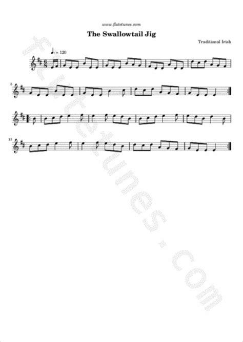 The Swallowtail Jig (Trad. Irish) - Free Flute Sheet Music