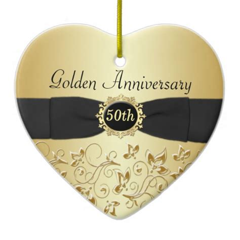 50th wedding anniversary christmas ornament zazzle