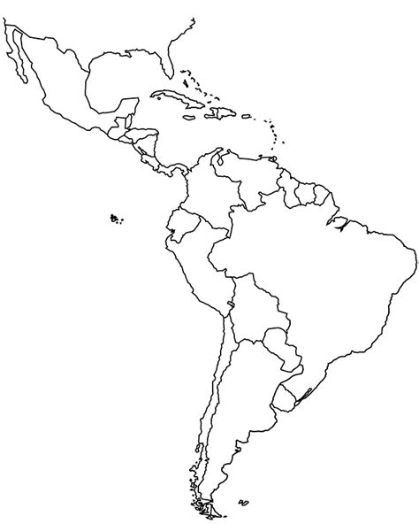 south america map outline wku in america