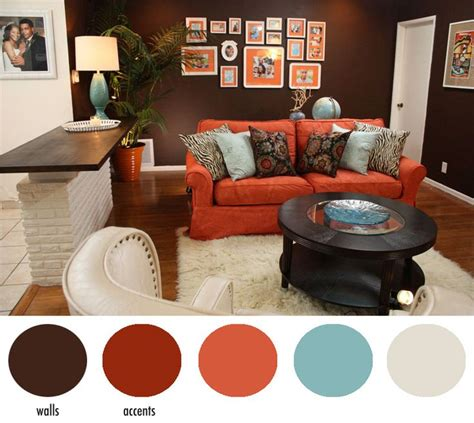 burnt orange and brown living room decor hotel chic design diys seen on home made simple accent colors and diys