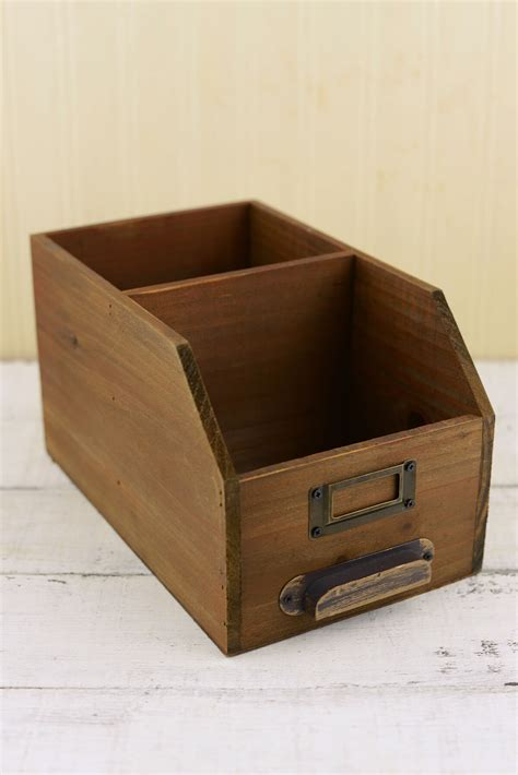 Wood Desk Organizer 10in Desk Organizer Wood