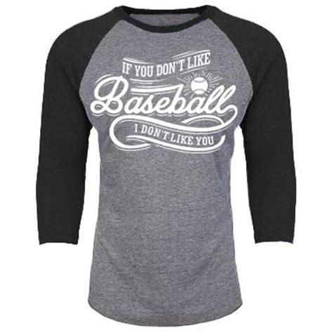 Cc 1807 Blouse Black V Baseball if you don t like baseball i don t like you 3 4th baseball shirt sports swag