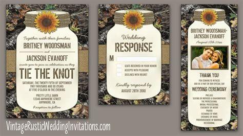 Camo Wedding Invitations   Vintage Rustic Wedding Invitations