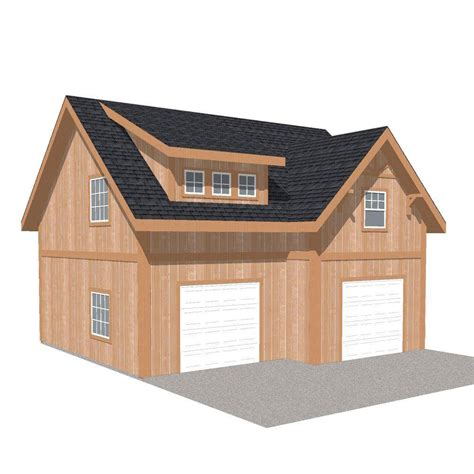 home depot garage plans barn pros 2 car 30 ft x 28 ft engineered permit ready garage kit with loft installation not