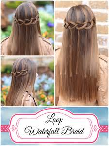 waterfall hairstyle step by step how to create a loop waterfall braid cute girls hairstyles