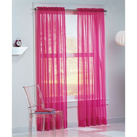 curtains for teens colormate kids josie voile window panel pink
