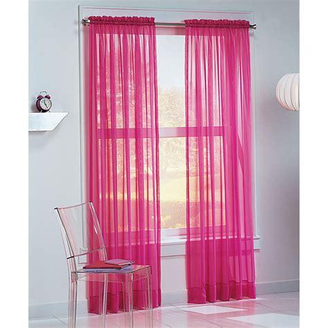teen window curtains colormate kids josie voile window panel pink
