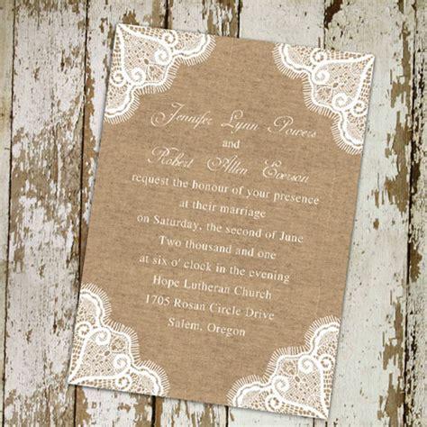 Burlap And Lace Wedding Invitations top 10 burlap wedding invitations