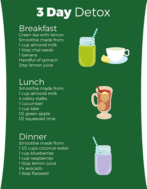 Detox Smoothie Meal Plan by 3 Day Detox Diet Healthy