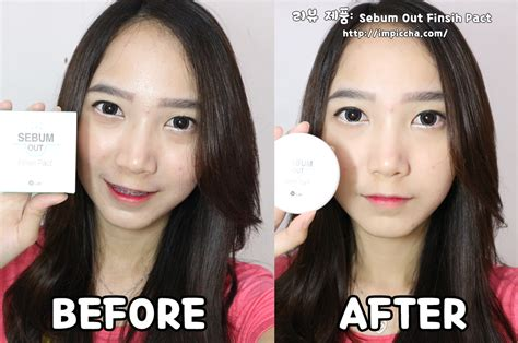 W Lab Sebum Out Finish Pact 9 5g review sebum out finish pact w lab im piccha