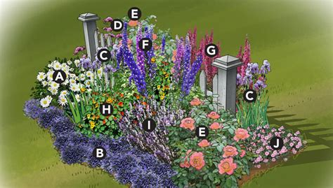 Cottage Garden Planting Scheme by Colorful Cottage Garden Plan
