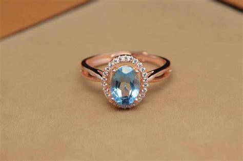 natural gemstone rings sterling silver natural blue topaz stone ring natural gemstone ring s925