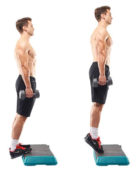 standing db calf raise