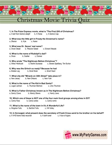 printable christmas trivia quiz with answers free printable christmas movie trivia quiz