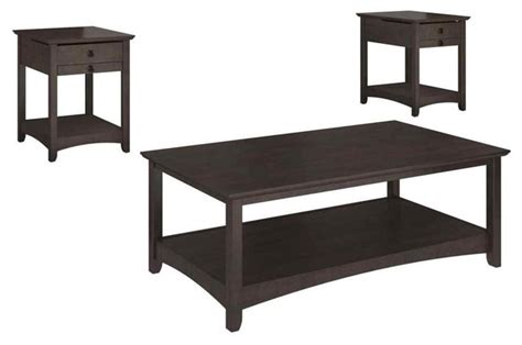 coffee table and entertainment center set 3 pc end table set with coffee table transitional