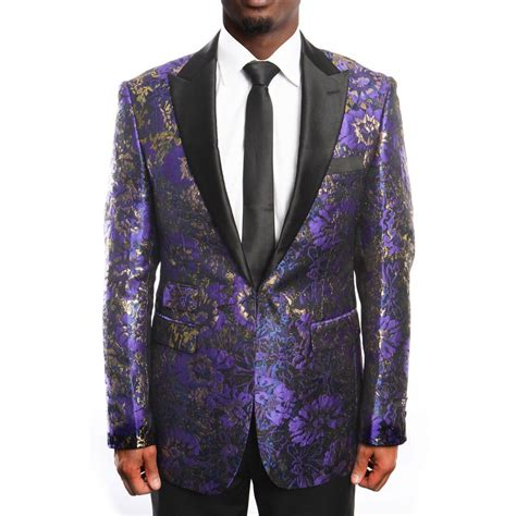 gold pattern blazer purple and gold tuxedo jacket with fancy pattern blazer