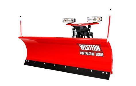 light duty snow plow western pro plus skid steer plow dejana truck utility