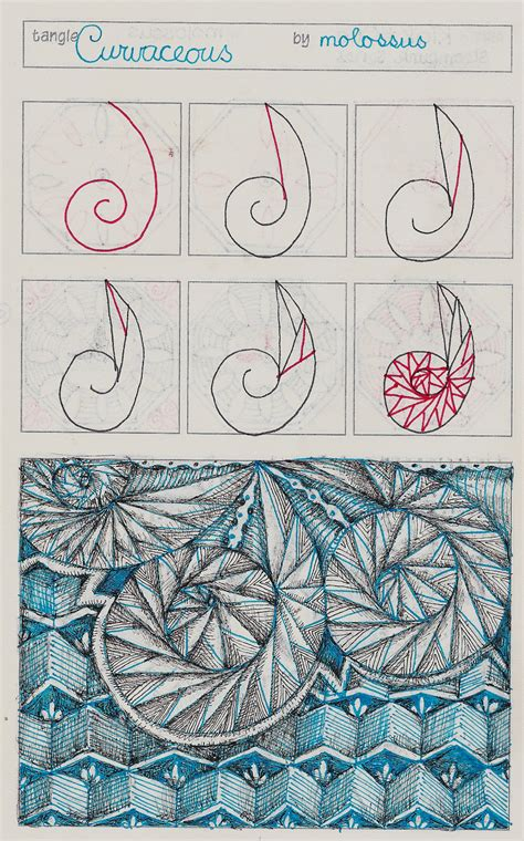 zentangle pattern organizer my tangle pattern curvaceous link to genevi 232 ve crabe s