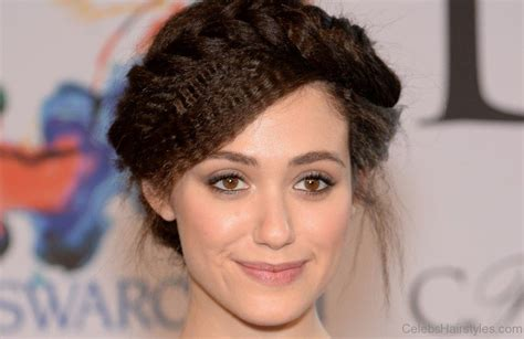 emmy rossum updo 51graceful hairstyles of emmy rossum
