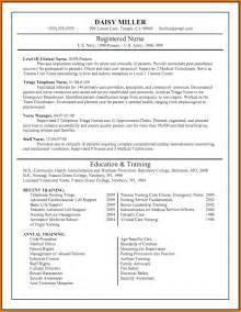 Nursing Resume Exles New Grad by Resume Writing Template Writing Resume Sle