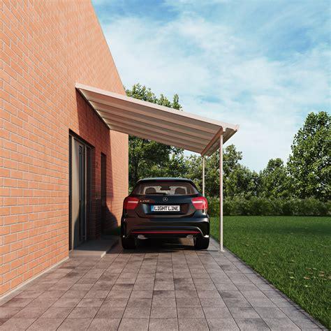 carport selbstbausatz terrassendach carport bausatz typ c 540x300cm